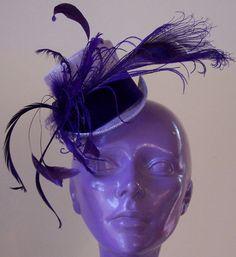 Lilac mini tophat by daisyhere on Etsy, $75.00