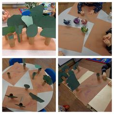 During forest animals week, the children created recycled forests!
