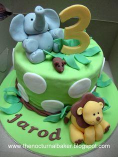 Cute little boys cake