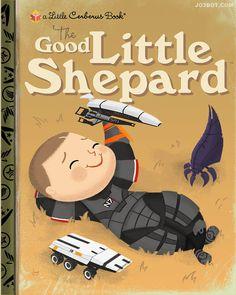 """""""The Good Little Shepard"""" is an art print of a fake children's book cover. children's book cover."""
