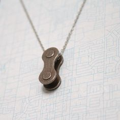 3D printed jewelry, bike chain link necklace, bicycle love, stainless steel, www.lovelorimichelle.com