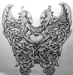Celtic Phoenix by Tattoo-Design