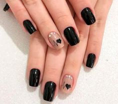 60 cool black nail designs to try out .- 60 coole schwarze Nageldesigns zum Ausprobieren 60 cool black nail designs to try out # Nail designs the - Cute Acrylic Nails, Cute Nails, Pretty Nails, Cute Nail Art Designs, Black Nail Designs, Nail Designs With Hearts, Heart Nail Designs, Short Square Nails, Valentine Nail Art