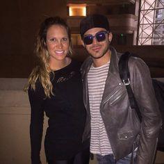 """""""Adam Lambert with Ana,  Mari pelo Mundo - Santiago, Chile  Viagens e eventos:  Show para 20 mil pessoas no Estadio Nacional  follow us on periscope, snap…"""""""