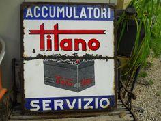 plaque émaillée TITANO accu • EUR 120,00 - PicClick FR