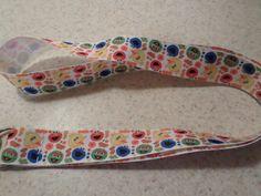 Sesame Street Inspired Handmade Ribbon Lanyard by KreationsbyKolleen on Etsy