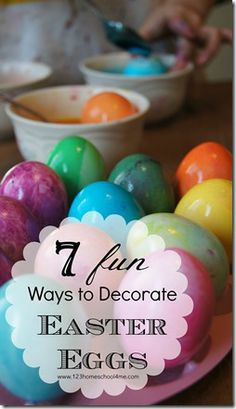 7 FUN ways to decorate Easter Eggs with kids