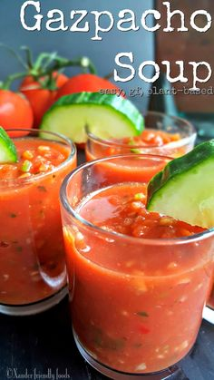 Bring the party to your mouth with easy to make, veggie packed, Gazpacho Soup. Raw Food Recipes, Vegetarian Recipes, Cooking Recipes, Vegan Soups, Healthy Soups, Vitamix Recipes, Turkish Recipes, Free Recipes, Easy Recipes