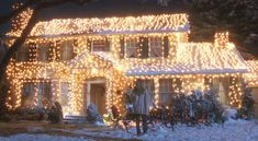 one of the most-searched-for holiday-movie houses on my site is Clark Griswold's from National Lampoon's Christmas Vacation (above). How many lights covered Clark's home? How about 25,000 imported Italian twinkle lights?