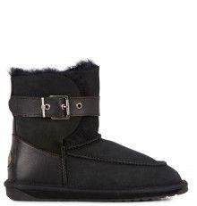 Emu černé válenky Trundle Black/Noir Emu, Bearpaw Boots, Shoes, Black, Fashion, Moda, Zapatos, Shoes Outlet, Black People