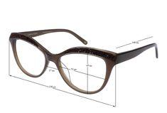 39c32589ef53 ADELINE Eyeglasses  Cat-Eye Glasses Frame in Brown with Swarovski Crystals
