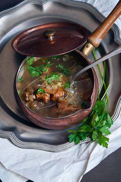 Supa de toamna cu galbiori si linte