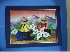 TARJETAS TIPO CUADRO MOTIVOS PERUANOS Easy Disney Drawings, Cool Art Drawings, Mexican Paintings, Peruvian Art, Southwest Art, Button Picture, Mexican Art, Folk Art, Artwork
