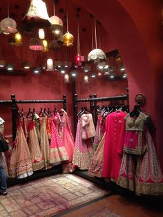 A peak inside the Sabyasachi Bridal Store....Simply Magic!
