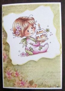 Yet to add the sentiment. Thought this one deserved a name!! Used Wild Rose Studio Paper Pad for the back ground.