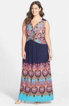 Tropical Beauty Plus Size Maxi Dress www.curvaliciousclothes.com ...