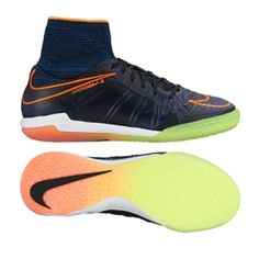118212ca6 Nike Youth HypervenomX Proximo Street IC Indoor Soccer Shoes (Black Total  Orange Racer Blue Black)