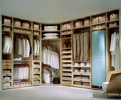 Studio Becker - Pull out shelves for Ben to lay his clothes all over!