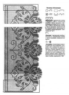 Kira crochet: Crocheted scheme no. Crochet Lace Edging, Granny Square Crochet Pattern, Crochet Borders, Crochet Doilies, Knit Crochet, Crochet Flor, Filet Crochet Charts, Basic Crochet Stitches, Crochet Diagram