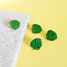 Monstera leaf pin - enamel pin - lapel pin - swiss cheese plant pin - leaf pin - monstera gift - plant pin - plant gift - monstera gift by finestimaginary on Etsy https://www.etsy.com/listing/475002037/monstera-leaf-pin-enamel-pin-lapel-pin