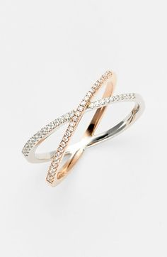 Bony Levy 'Crossover' Diamond Stack Ring (Nordstrom Exclusive) available at #Nordstrom