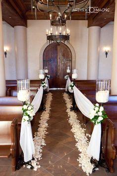 26 Church Wedding Decorations Ideas