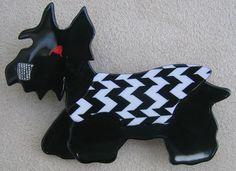 Black Scottie Dog pin, by Lea Stein, Paris