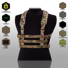Tactical Military Molle Light Weight Chest Rig Strap Harness Vest Belt Support