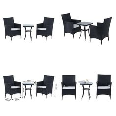 Outsunny Garden Outdoor Rattan Furniture Bistro Set 3 Pcs Patio Weave Companion for sale online Rattan Outdoor Furniture, Outdoor Decor, Bistro Set, Patio Dining, Dining Set, Table And Chairs, Outdoor Gardens, Bedroom Furniture, Weave