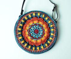 Crocheted Bag PATTERN Round purse with por LillaBjornCrochet