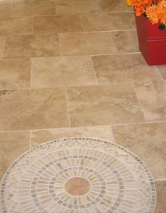 Gallery showing examples of ceramic tile flooring Porcelain Vs Ceramic, Ceramic Floor Tiles, Bathroom Floor Tiles, Tile Floor, Tiled Hallway, Hallway Flooring, Tile Entryway, Foyer, Tile Layout