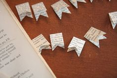 mini vintage book paper banner