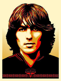 Bid now on George Harrison HPM by Shepard Fairey. View a wide Variety of artworks by Shepard Fairey, now available for sale on artnet Auctions. Beatles Art, Beatles Photos, The Beatles, Shepard Fairey Prints, George Harrison Albums, The Fab Four, Ringo Starr, Beautiful Songs, Look At You