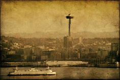 """Seattle"" by Edmund Lowe, Seattle, Washington //  // Imagekind.com -- Buy stunning, museum-quality fine art prints, framed prints, and canvas prints directly from independent working artists and photographers."