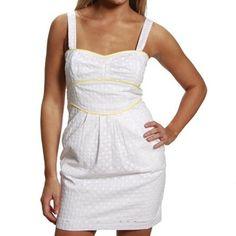 Lucy Love Eyelet Blossom White Juniors Dress