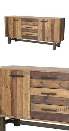 Serve all your favorite dishes with a stunning side of rustic character. Beautifully made from gorgeously grained recycled pine wood coated in a handsome rainbow of natural finishes, this Tejon Sideboa...  Find the Tejon Sideboard, as seen in the National Park Pass  Collection at http://dotandbo.com/collections/national-park-pass?utm_source=pinterest&utm_medium=organic&db_sku=128795