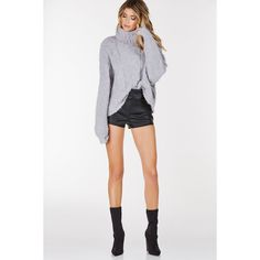 N.Peal cashmere oversize box cable jumper ($485) ❤ liked on ...
