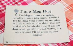 ButtonsandButterflies - Mug Rug Tag