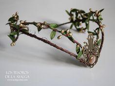Wooland elf tiara - elven headpiece - fairy crown by Ayalga on Etsy https://www.etsy.com/listing/203122269/wooland-elf-tiara-elven-headpiece-fairy