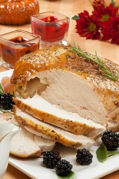 Roasted Turkey Breast with Lemon and Oregano