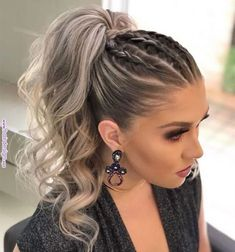 DIY Ponytail Ideas You're Totally Going to Want to 2019 Adorable Ponytail Hairstyles; Classic Ponytail For Long Hair; Dutch Braids To A High Pony;High Wavy Pony For Shoulder Length Hair Cute Ponytail Hairstyles, Cute Ponytails, Summer Hairstyles, Hairstyle Ideas, Ponytail Ideas, Braids Into Ponytail, Trendy Hairstyles, Wedding Hairstyles, Simple Braided Hairstyles