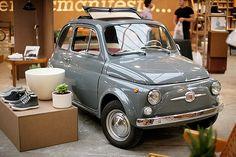 Fiat 500 in grey Luxury Sports Cars, Sport Cars, Fiat Sport, Fiat Cinquecento, Fiat Abarth, Ferrari, Retro Cars, Vintage Cars, Bugatti