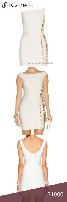 31b6156f Make an offer HERVE LEGER DRESS👗 AUTHENTIC HERVE LEGER BANDAGE DRESS WITH  CROSS OVER STRAPS