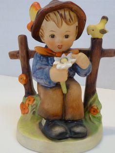 Vintage Hummel Goebel Figurine She Loves Me, She Loves Me Not  #174  W. Germany