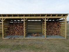 Sweet firewood storage shed