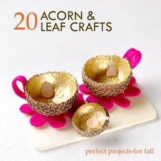 Just in time for the fall season. Add a unique touch to your home with these acorn and leaf #crafts