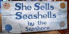 She sells seashells by the seashore - tongue twister.