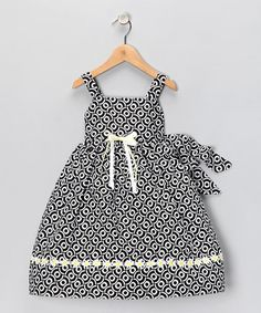 Take a look at this Black & White Daisy Dress - Infant, Toddler & Girls   by Dimples & Blink on #zulily today!