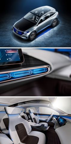 the mercedes benz generation eq concept car which was presented at the paris motor