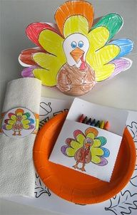 Thanksgiving crafts for the kids table